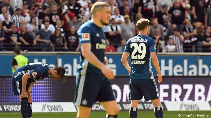 Fußball 1 Bundesliga Eintracht Frankfurt Hamburger SV Enttäuschung