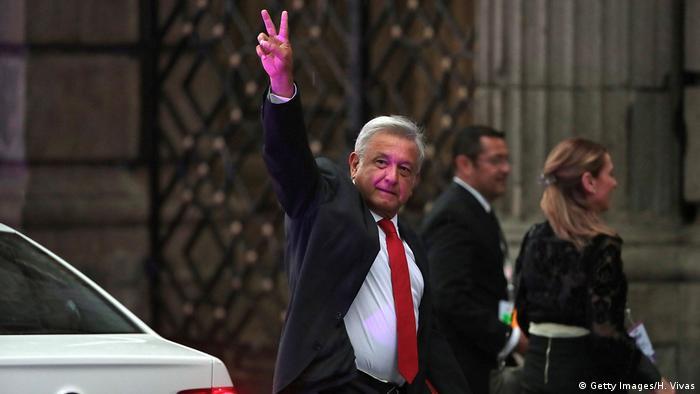 Mexiko Präsidentschaftskandidat López Obrador (Getty Images/H. Vivas)