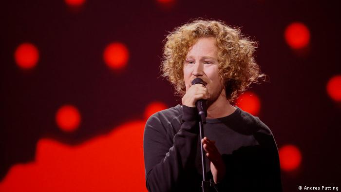 Michael Schulte rehearsing for Eurovision Song contest (Andres Putting)