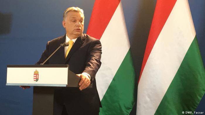 Orban bei Pressekonferenz