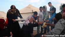 Frauen bei den Protesten an der israelischen Grenze im Gaza-Streifen