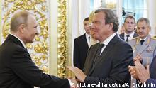 Inauguration Putin Gerhard Schröder