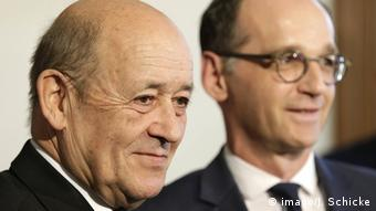 German Foreign Minister Heiko Maas and French Foreign Minister Jean-Yves Le Drian (imago/J. Schicke)