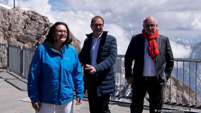 Andrea Nahles, Alexander Dobrindt and Volker Kauder