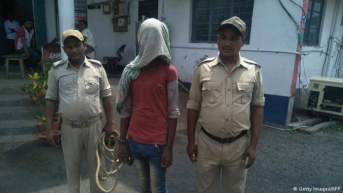 An alleged rapist being held by Indian police in the case of a 17-year-old girl who was raped and set on fire in Jharkhand.