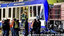 Deutschland Zugunglück mit zwei Toten bei Aichach