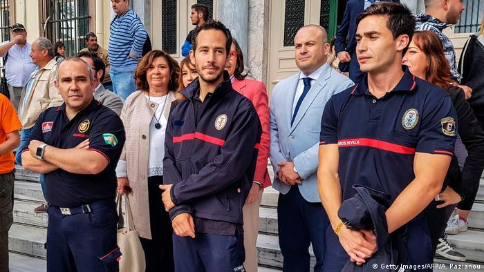 Griechenland Lesbos Spanische Feuerwehrleute vor Gericht