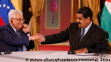 Venezuela Caracas Palästinenserpräsident Abbas trifft Maduro