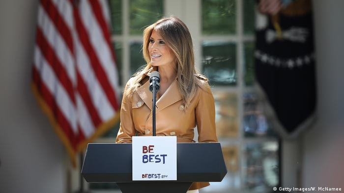 USA Washington Melania Trump stellt Kampagne Be Best vor (Getty Images/W. McNamee)