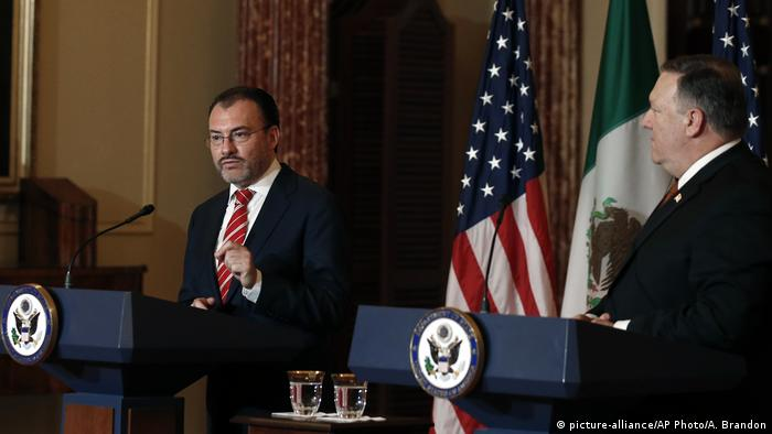 USA Washington Mike Pompeo empfängt Luis Videgaray (picture-alliance/AP Photo/A. Brandon)