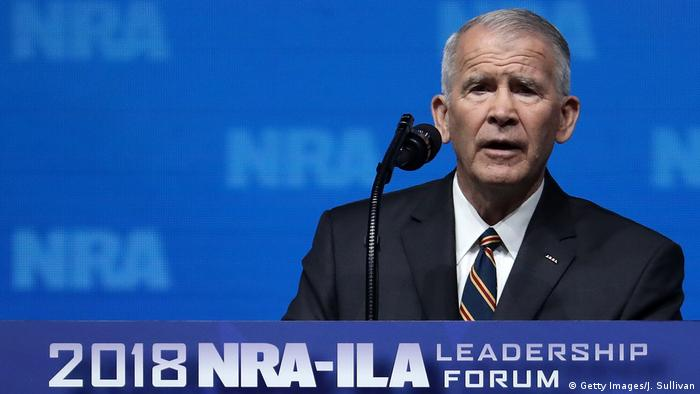 USA Dallas zukünftiger NRA Vorsitzender Oliver North (Getty Images/J. Sullivan)
