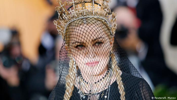 Madonna in a black veil (Reuters/E. Munoz)