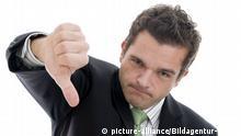 erfolgloser Jungunternehmer - unsuccessful businessman | Verwendung weltweit