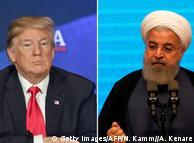 Дональд Трамп (ліворуч) та Хасан Роухані