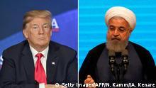 Bildkombo Donald Trump und Hassan Rohani