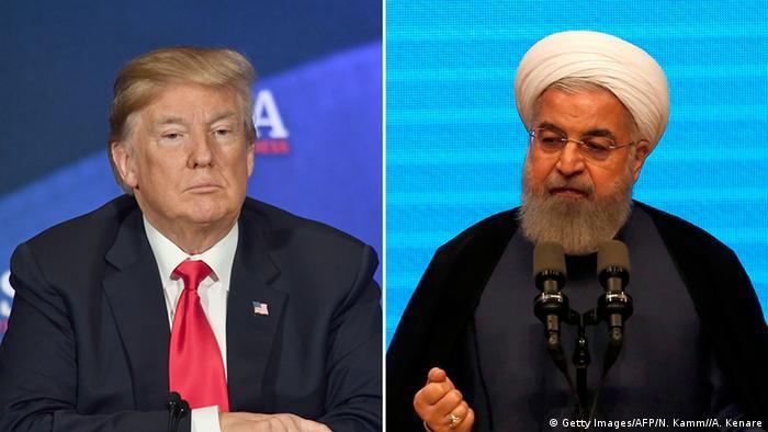 Bildkombo Donald Trump und Hassan Rohani (Getty Images/AFP/N. Kamm//A. Kenare)