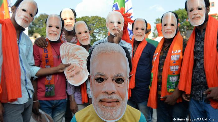 Modi's supporters in the state of Karnataka