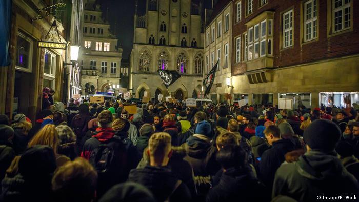 Deutschland Münster Protest gegen die AfD