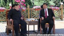 China Ministerpräsident Xi Jinping emfängt norkoreanischer Präsident Kim Jong Un