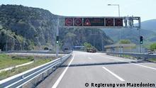 Die Autobahn Demir Kapija - Smokvica in Mazedonien ist feierlich eröffnet (Aufnahmedatum 23.04.2018, in Demir Kapija, Mazedonien)