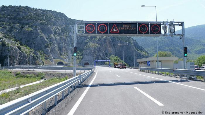 Mazedonien Demir Kapija Autobahn