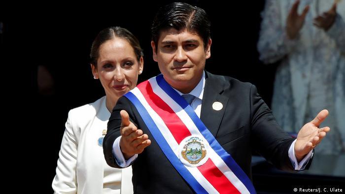 Costa Rica Amtseinführung Präsident Carlos Alvarado Quesada (Reuters/J. C. Ulate)