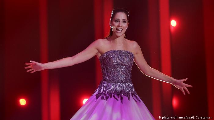 Estonia's Elina Nechayeva at the Eurovision Song Contest