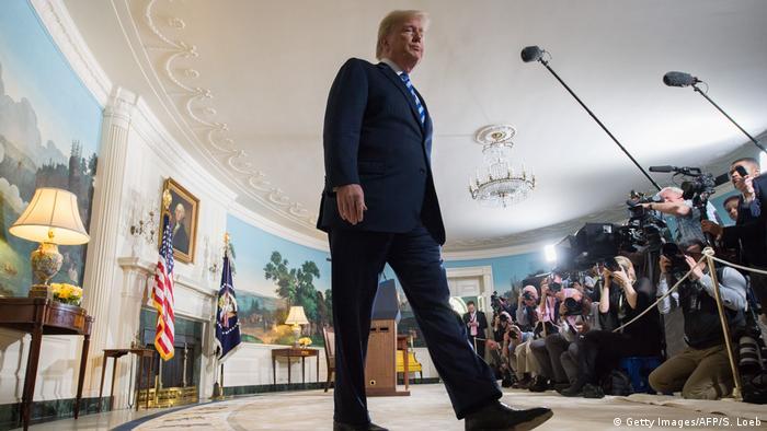 Президент Трамп после оглашения решения о выходе из соглашения по Ирану