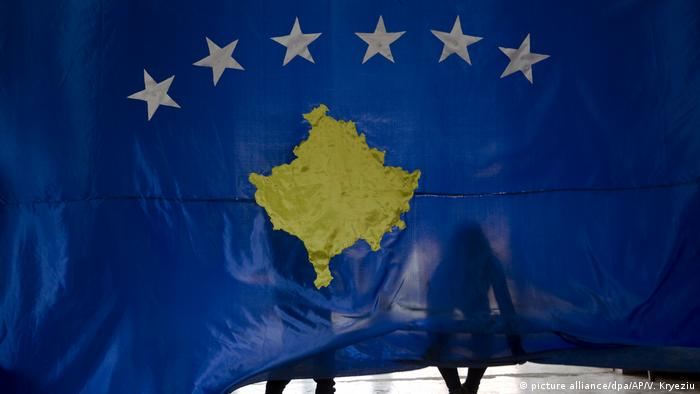 The Kosovo flag