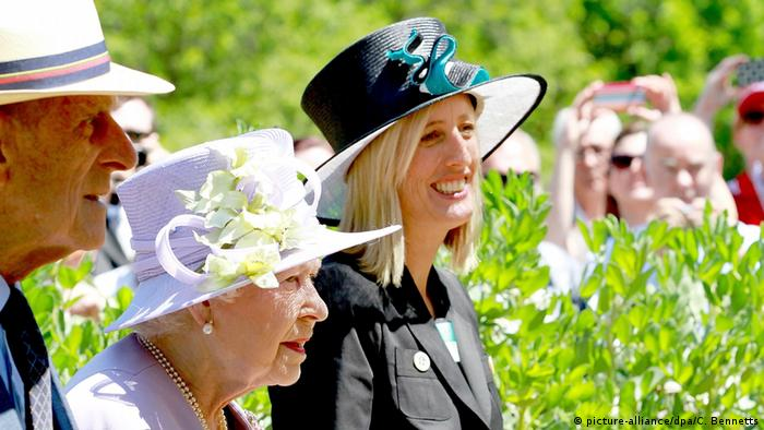Prince Philip, Queen Elizabeth and Australian lawmaker Katy Gallagher in Canberra
