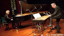 Pianistin Julia Hülsmann und Vibraphonist Christopher Dell. Zusammen ein Konzert gegeben haben sie noch nie. Das Jazzfest Bonn hat sie gemeinsam auf die Bühne geholt.