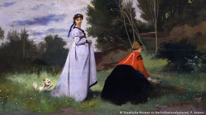Ансельм Фейербах, Две дамы на природе, 1867 г.