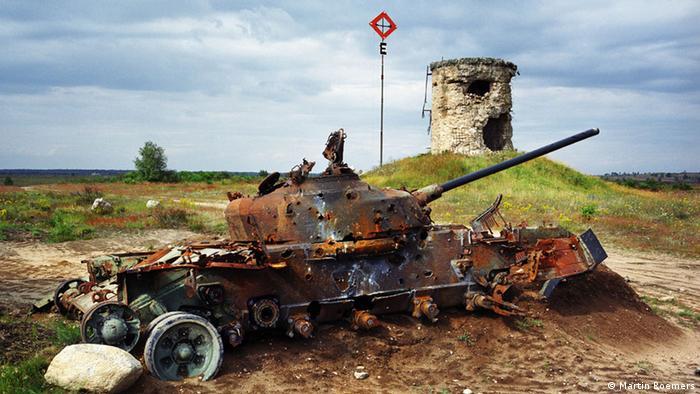 Брошенный танк на бывшем советском полигоне в ГДР