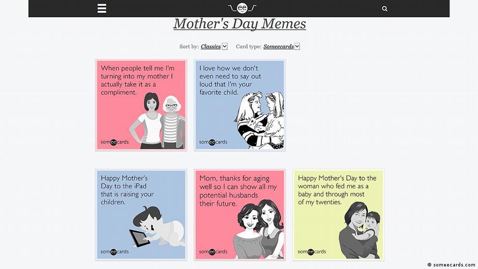 Die fünf besten E-Cards zum Muttertag | Lebensart | DW | 11.05.2018