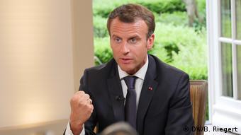 Αποφασισμένος να πείσει για τα ευρωπαϊκά του οράματα εμφανίστηκε ο Γάλλος πρόεδρος