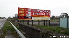 Advert for fireworks at the Irish border
