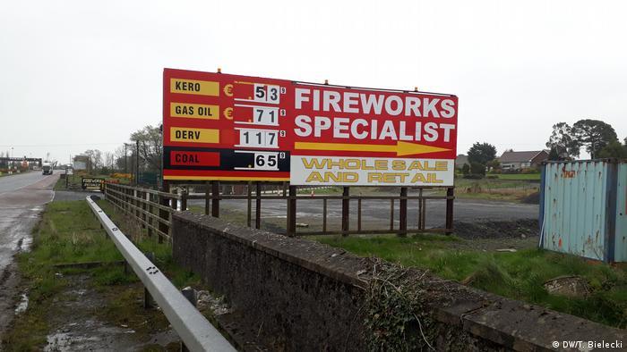 Irland | Werbung für Fuerwerkskörper an der inneririschen Grenze