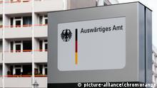 Auswärtiges Amt Hinweisschild in Berlin Mitte
