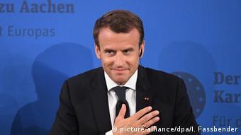 Verleihung Internationaler Karlspreis an Macron