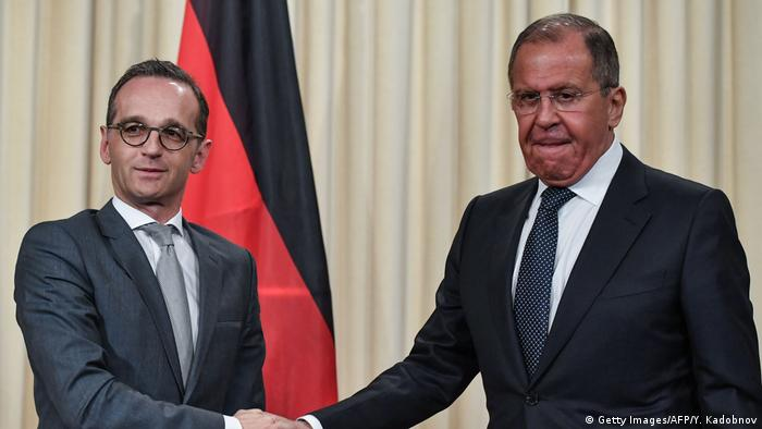 Heiko Maas ve Sergey Lavrov
