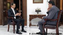 Syrien Bashar Assad im Interview mit Alexis Papachelas in Damaskus