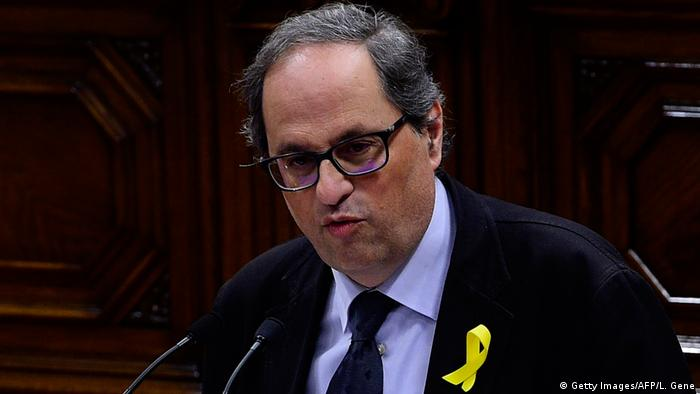 Spanien Quim Torra in Barcelona (Getty Images/AFP/L. Gene)