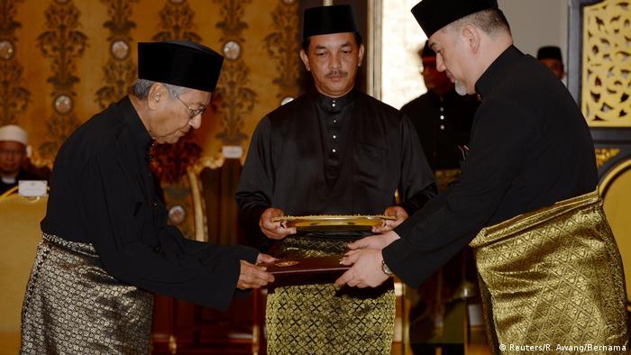Malaysia Mahathir Mohamad, Premierminister Amtseinführung in Kuala Lumpur (Reuters/R. Awang/Bernama)