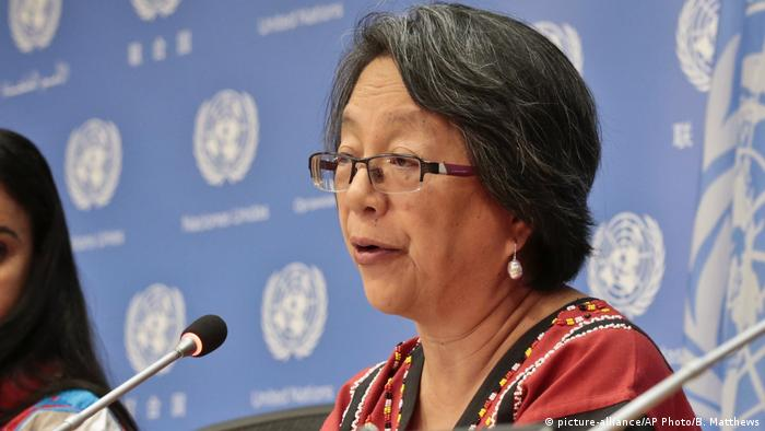 Victoria Tauli-Corpuz - U.N. Reporter (picture-alliance/AP Photo/B. Matthews)