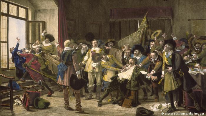 Dreißigjähriger Krieg - Prager Fenstersturz 1618 (picture-alliance/akg-images)