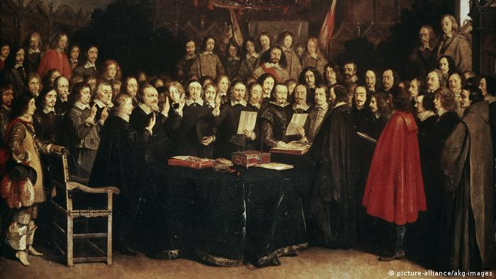 The signing of the treaty of Münster