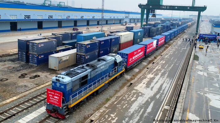 Changsha - Tehran: 1. Güterzug zwischen China nach Iran (picture alliance/dpa/Imaginechina/Z. Xin)