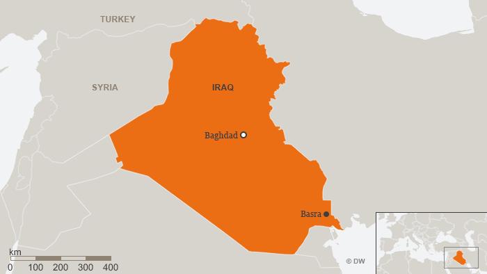 Karte Irak Basra ENG