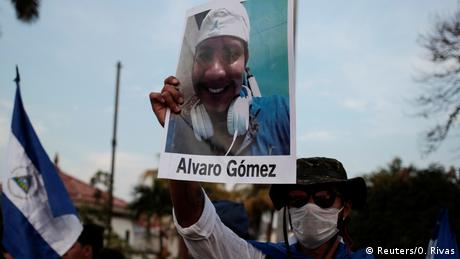 Nicaragua - Foto von Alvaro Gomez bei Protesten in Managua (Reuters/O. Rivas)