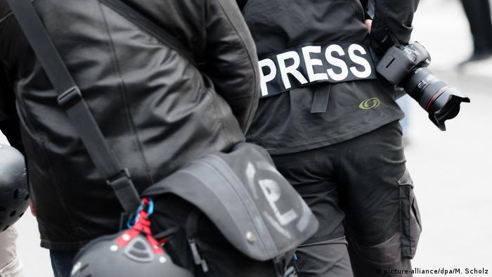 Demonstration Journalisten Presse (picture-alliance/dpa/M. Scholz)